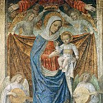 Bergognone (Ambrogio da Fossano) - Madonna and Child with the Eternal Father and Angels
