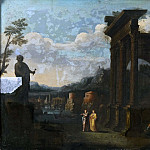 Landscape with Harbour and Antique Buildings [Attributed]