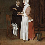 Quiringh van Brekelenkamp - A Woman Washing her Hands