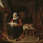 Quiringh van Brekelenkamp - Old Woman Reading the Bible