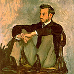 Frederic Bazille - PORTRAIT OF RENOIR 1867 OIL ON CANVAS