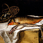 Frederic Bazille - Still Life With Fish