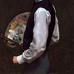 Frederic Bazille - SELF PORTRAIT 1865 66 OIL ON CANVAS