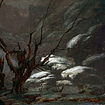August Ferdinand Hopfgarten - Mountain canyon in winter