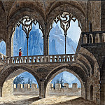 Heinrich Vogeler - Gothic Hall with View of High Mountains