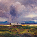 Gustave Adolf Hippius - Severe Weather in the Roman Campagna