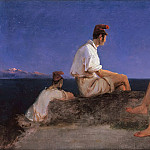 Peter Von Hess - Three fishermen on the Gulf of Naples
