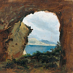 Carl Blechen - View from a Cave towards the Sea and Mountains