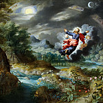 Creation of the moon and stars, Jan Brueghel the Younger