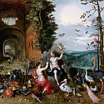 Jan Brueghel the Younger - Allegory of air and fire