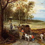 Landscape with travelers, Jan Brueghel the Younger