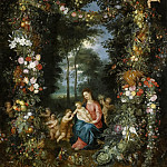 Jan Brueghel the Younger - Madonna and Child with young Saint John the Baptist