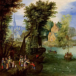 A river landscape, Jan Brueghel the Younger