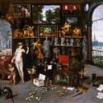 Jan Brueghel the Younger - Allegory of Sight (Venus and Cupid in a Picture Gallery)
