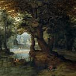 Bosque con laguna , Jan Brueghel the Younger