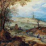 Jan Brueghel the Younger - Landscape with travelers