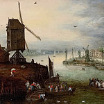 River Landscape with a Mill, Jan Brueghel the Younger