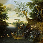 Jan Brueghel the Younger - River landscape with birds