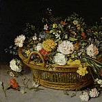 Jan Brueghel the Younger - Basket with flowers