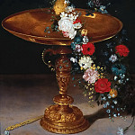Jan Brueghel the Younger - Bowl with wreath