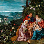 The Holy Family with St. Elizabeth, Jan Brueghel the Younger