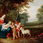 Madonna and Child with Saint John the Baptist in a landscape, Jan Brueghel the Younger