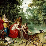 Diana and Nymphs after the hunt, Jan Brueghel the Younger
