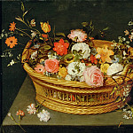 Jan Brueghel the Younger - A still life of flowers