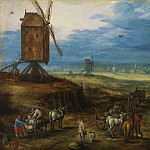 Jan Brueghel the Younger - Landscape with windmills