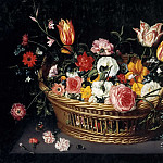 Basket with flowers, Jan Brueghel the Younger