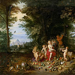 Jan Brueghel the Younger - Landscape with Ceres (Allegory of Earth)