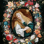 Magdalene in a flower garland, Jan Brueghel the Younger