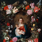 Virgin and Child in a flower garland, Jan Brueghel the Younger
