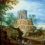 Jan Brueghel the Younger - Coastal landscape with ruins