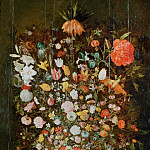 Bunch of Flowers in a Wooden Vase, Jan Brueghel the Younger
