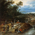 Surprise of a convoy, Jan Brueghel the Younger