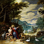Jan Brueghel the Younger - THE CREATION OF ADAM IN THE GARDEN OF EDEN