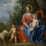 Jan Brueghel the Younger - The Holy Family with the Infant Saint John the Baptist and the Lamb