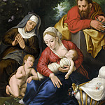 Jan Brueghel the Younger - The Holy Family with St. Elizabeth and St. John the Baptist
