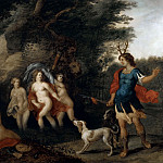 Jan Brueghel the Younger - Actaeon, watches the bathing Artemis