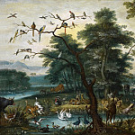 Paradise scene with the Fall of Man, Jan Brueghel the Younger