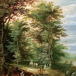 Landscape with the Flight into Egypt, Jan Brueghel the Younger