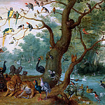 Paradisical landscape, Jan Brueghel the Younger