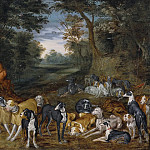 Jan Brueghel the Younger - Sleeping Nymphs observed by Satyrs