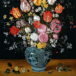 Flowers in a vase, Jan Brueghel the Younger
