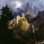 Carl Morgenstern - Monastery burgeis in Tirol