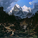 Gustave Adolf Hippius - The Wetterhorn