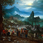 Christ Preaching At The Seaport, Jan Brueghel The Elder