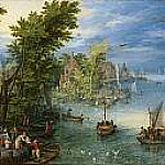 River Landscape, Jan Brueghel The Elder