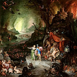 Jan Brueghel The Elder - Aeneas and the Sibyl in the Underworld